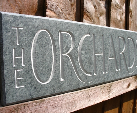 The Orchards House Sign